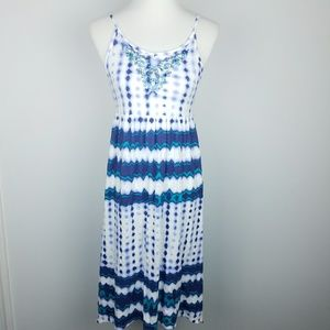 Lucky Brand High Low Midi Dress w/Sequins